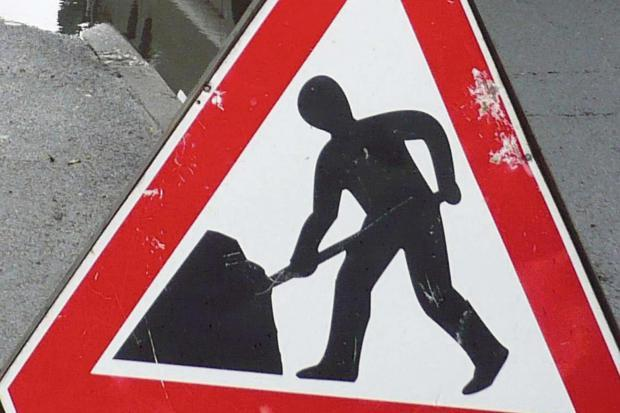 Roadworks warning