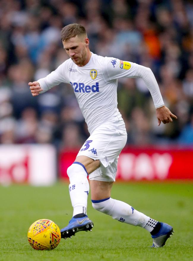 Leeds defender Barry Douglas has been ruled out for the rest of the season with knee ligament damage  Picture: John Walton/PA Wire