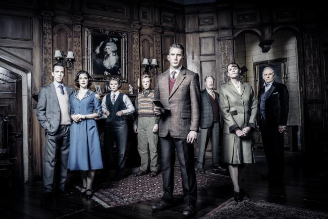 Backward glance to Britain's vanished past: The cast for Agatha Christ ie's The Mousetrap. Picture: Johan Persson