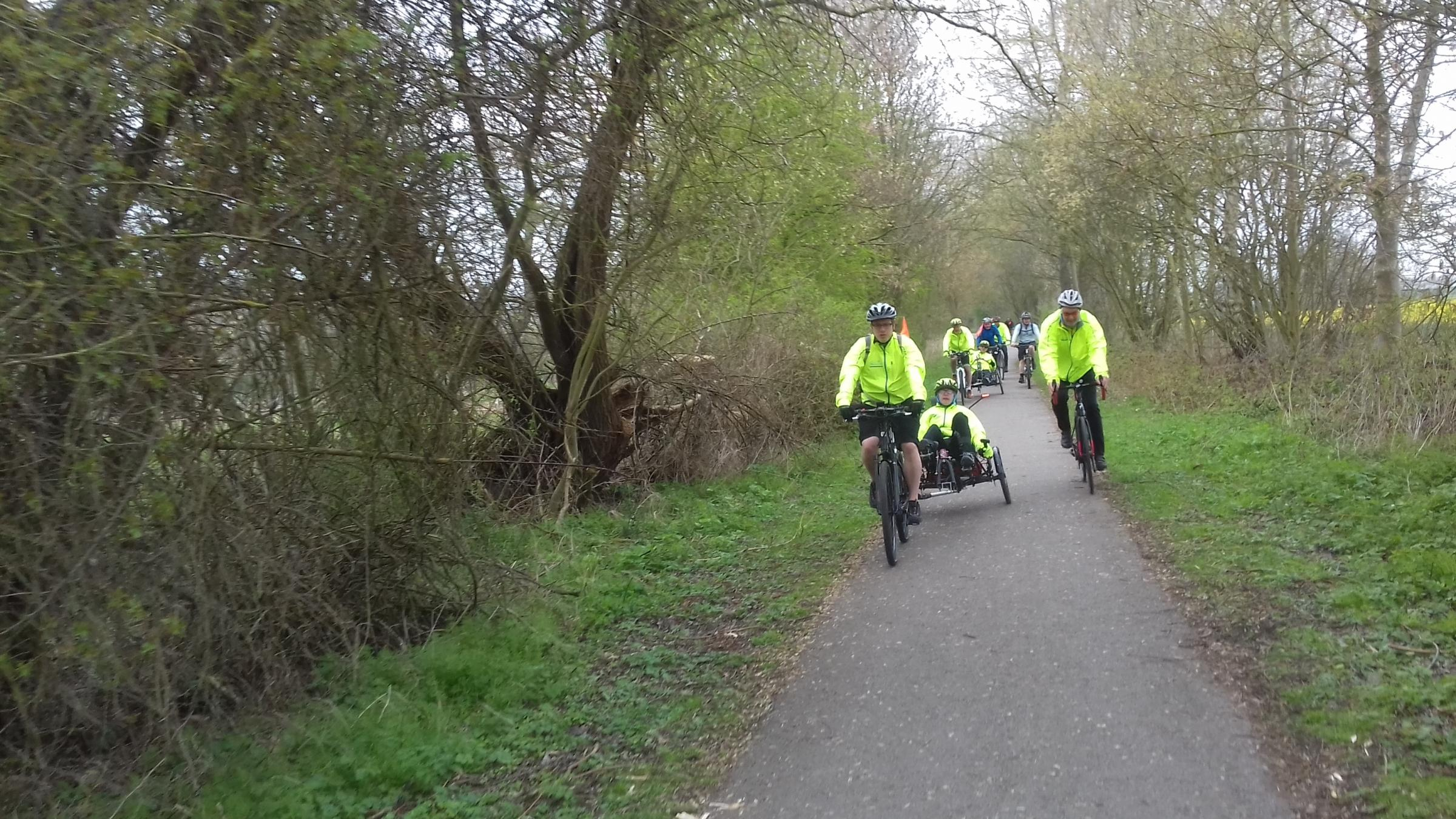 Disabled and able-bodied cyclists take part in today's 50k ride  Picture: Ben Vogelsang