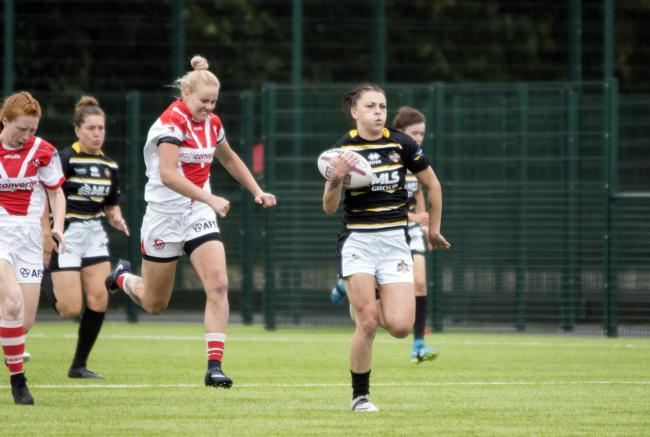 York City Knights' Ashleigh Hyde was one of the try-scorers against South Leeds Spartans. Picture: Ian Parker