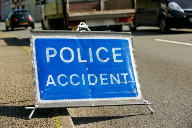 Police officer injured in A64 crash