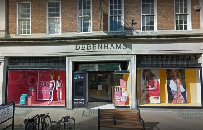 Debenhams in York which is to close in December