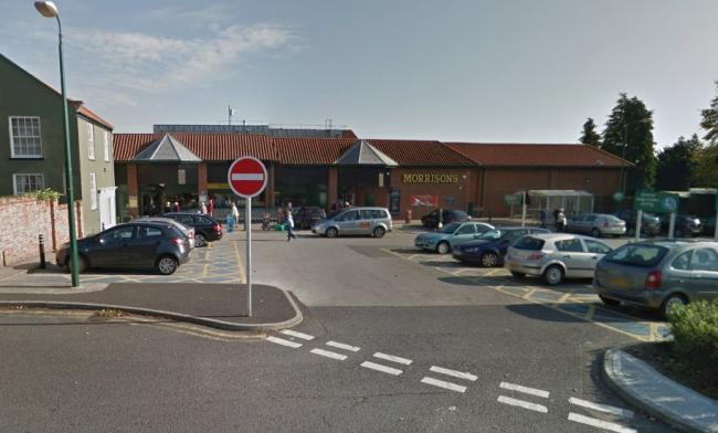 Morrisons supermarket in Acomb From Google StreetView
