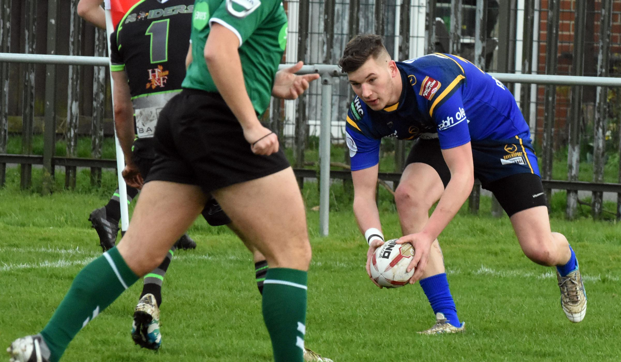 Josh Thompson was amongst the York Acorn try-scorers against Oulton Raiders. Picture: Nigel Holland