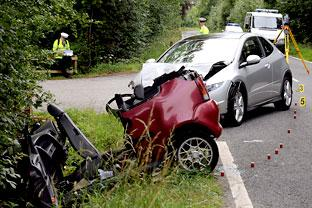 Woman Passenger Killed In Two Car Crash In Scalm Lane At