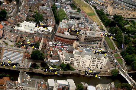 Tucanos fly over York
