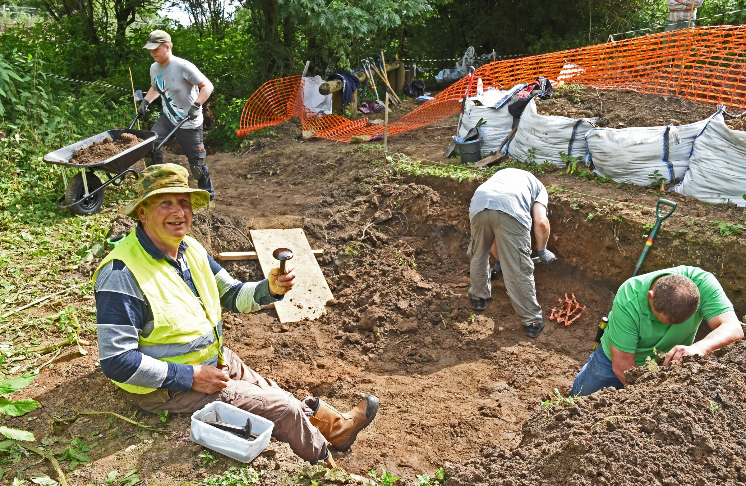 FLASHBACK: Chas Jones, pictured at a previous dig in Fulford last year