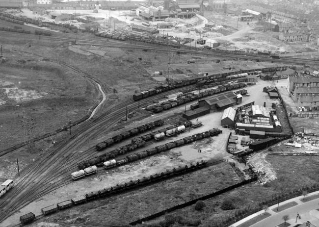 Derwent Valley Railway: aerial view of the railway yard circa 1930s.Photo: Yorkshire Evening Press