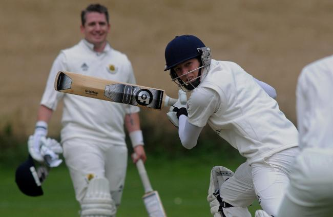 Acomb batsman Matthew Dale scored 26 of his side's 32-1 in their rain-affected clash with Sheriff Hutton Bridge. Picture: Mike Tipping.