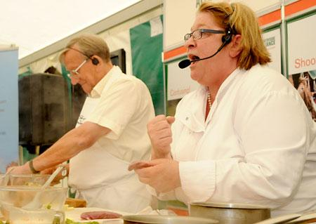 Chef Rosemary Shrager cooks up a treat  with    supermarket boss Sir Ken Morrison