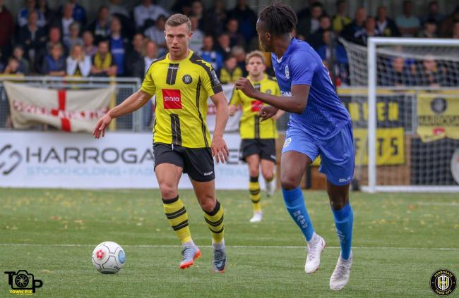 Harrogate Town's Jack Muldoon, who missed a penalty in their 3-1 defeat to AFC Fylde