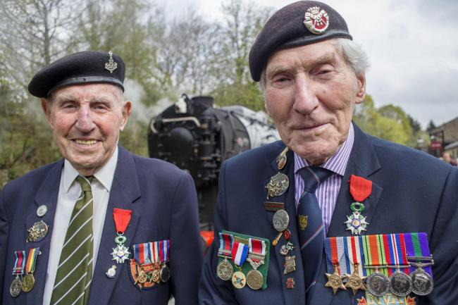 MODEST: York Normandy veterans Ken Smith and Ken Cooke