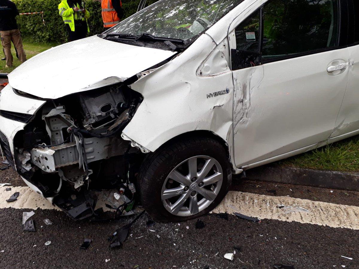 Crash In Bishopthorpe Leaves Car On Its Side York Press