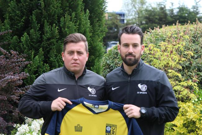 Tadcaster Albion manager Simon Collins (right) has stepped down from his role at the club. Former manager Michael Morton (left) left at the start of the 2018/19 season