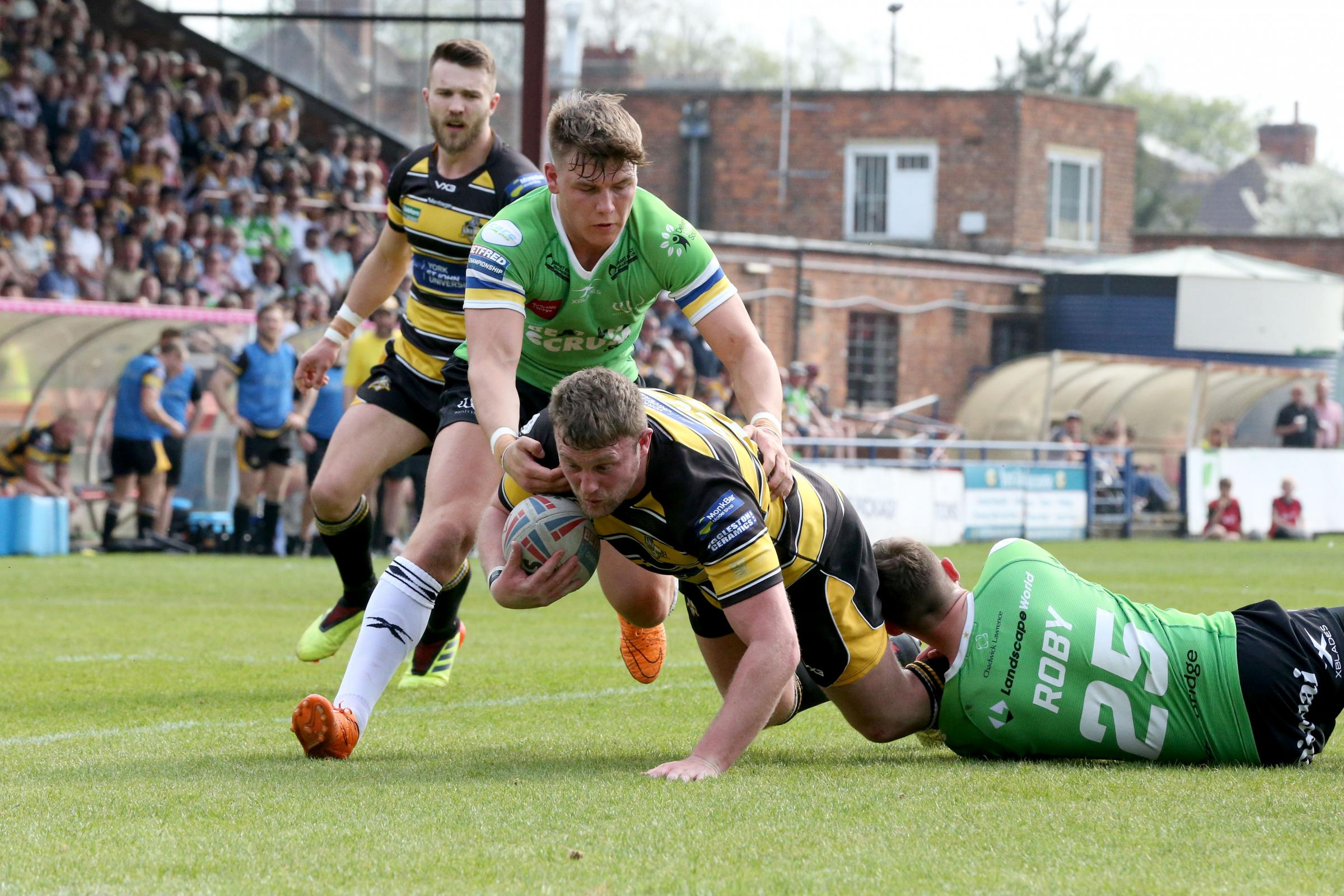 CROCKED: York City Knights second-row Sam Scott, who is likely to be sidelined for a month with a knee ligament injury. Picture: Gordon Clayton