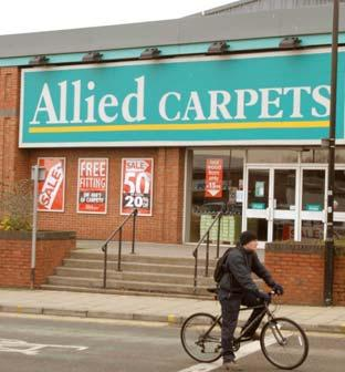 The Allied Carpets shop in York.