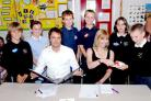 Alne Primary School pupils work with Nestlé manager on Chompies biteables project