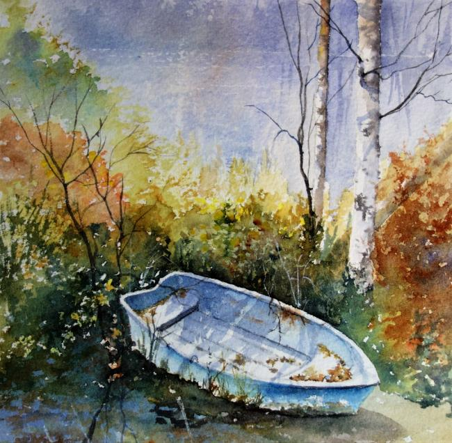 Translucent: Forgotten, watercolour, by Suzanne McQuade