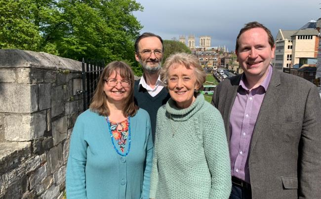 Green councillors Denise Craghill and Andy D'Agorne with Liberal Democrats Carol Runciman and Keith Aspden