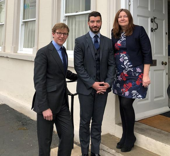 UP IN THE WORLD: Orlando Bridgeman (left) and Greg Cross (centre), who have recently been appointed directors at Crombie Wilkinson Solicitors, with senior director Jenni Bartram