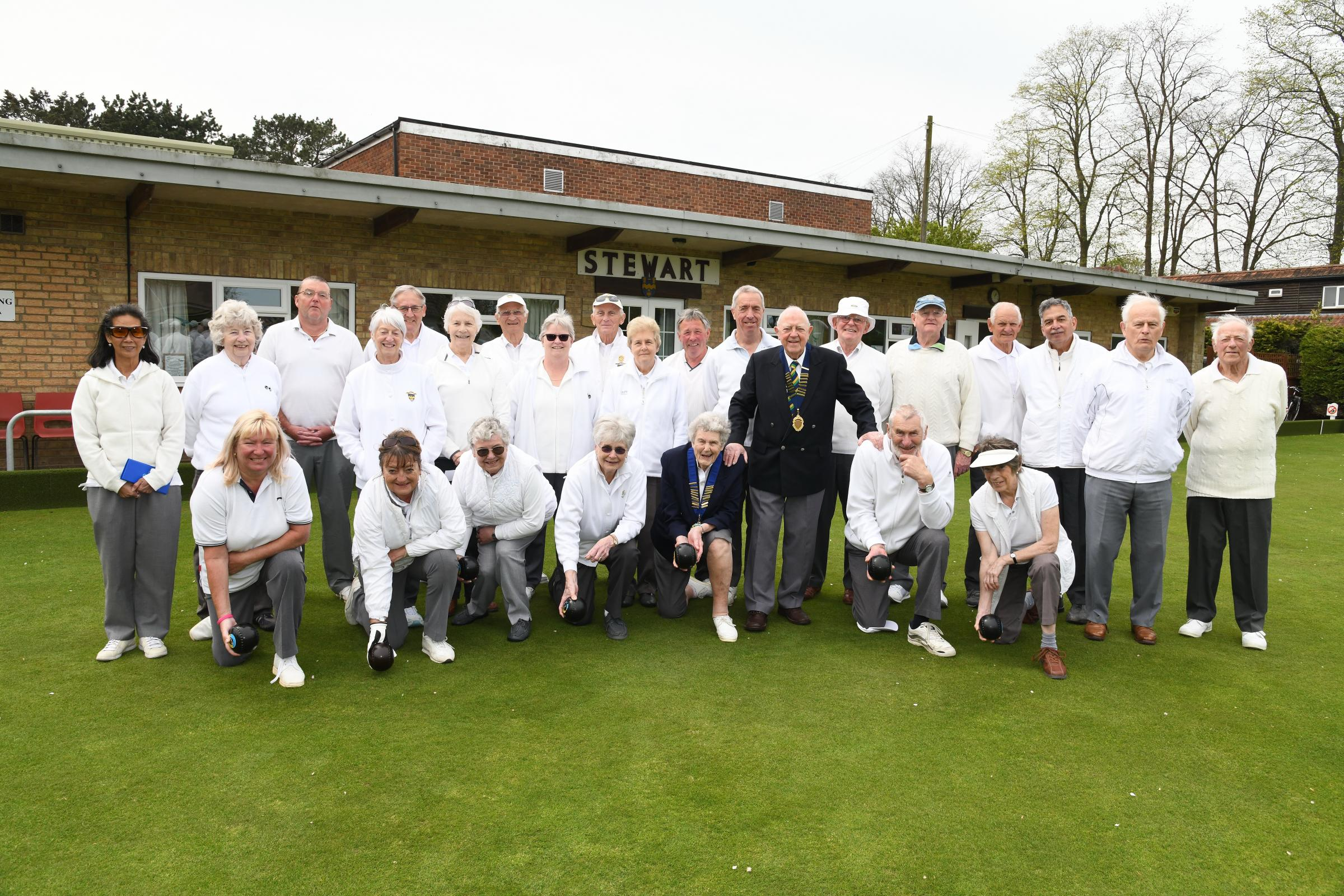 FUTURE PROOF: Members of Stewart Bowling Club, where improvements have been made to the clubhouse and green