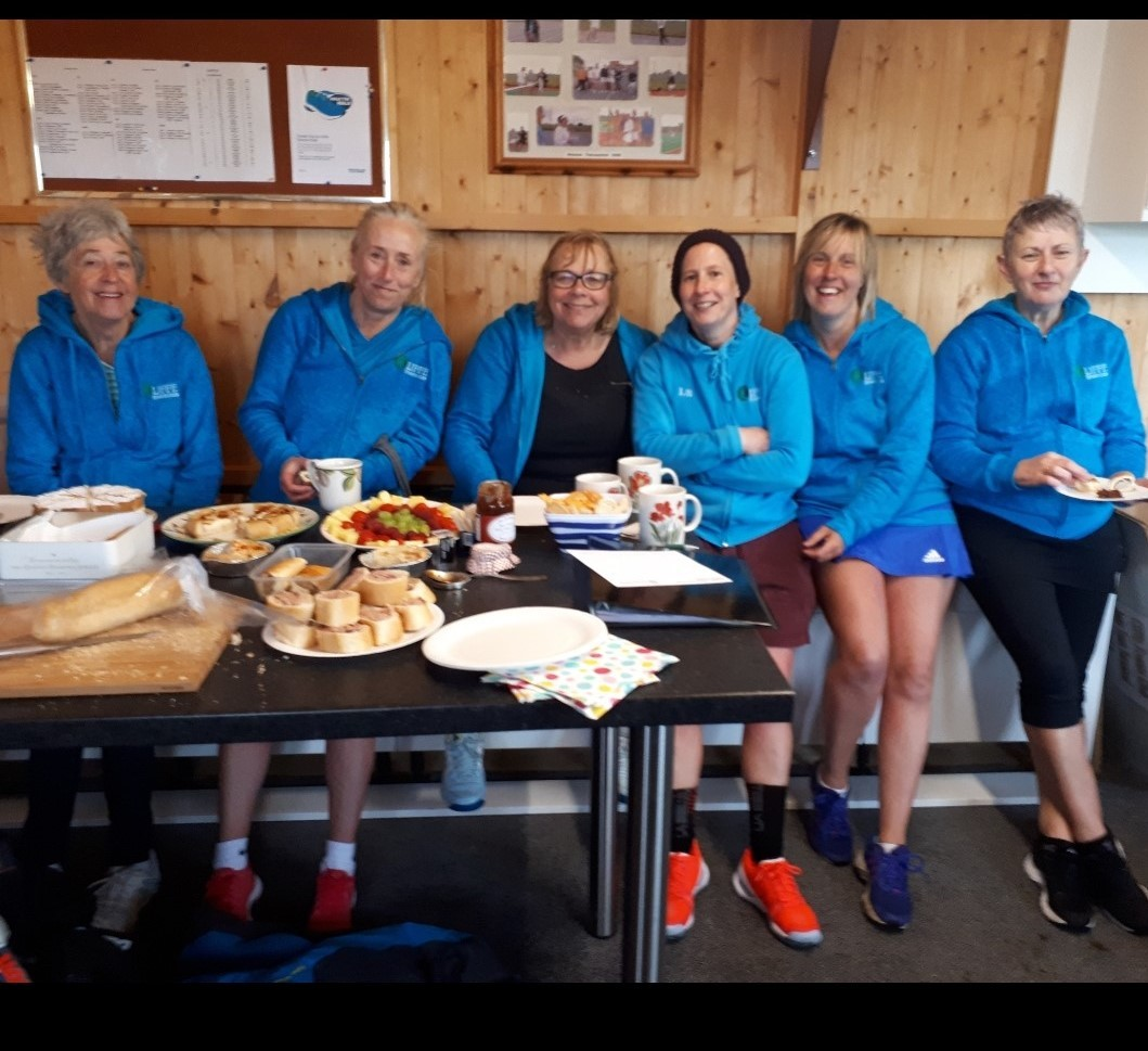 The Cliffe team, who lead division three of the Fulford Ladies Invitation Tennis League after comfortably beating Copmanthorpe