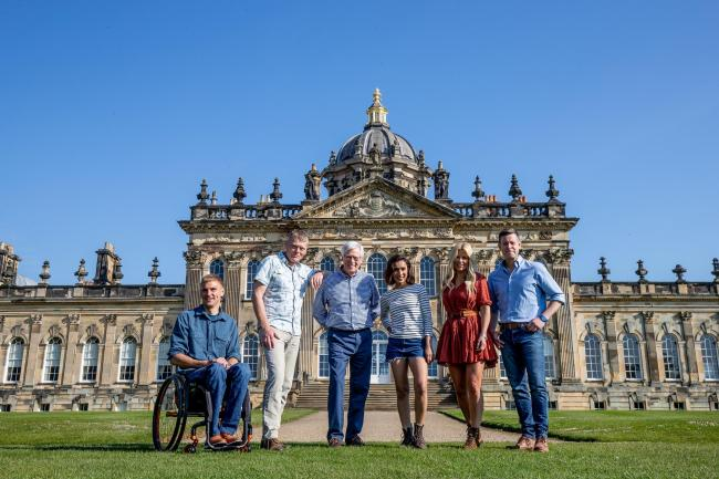 Countryfile presenters Matt Baker, Anita Rani, John Craven, Steve Brown, Tom Heap and Ellie Harrison at Castle Howard