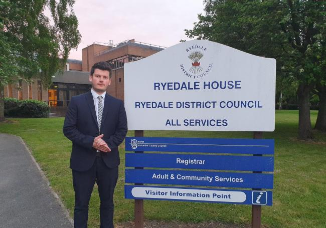 Cllr Keane Duncan, leader of Ryedale District Council