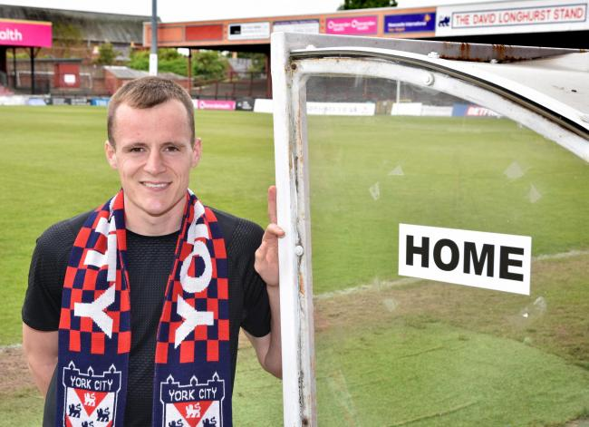 Midfielder Kieran Green, who is among the new arrivals at York City. Picture: Frank Dwyer