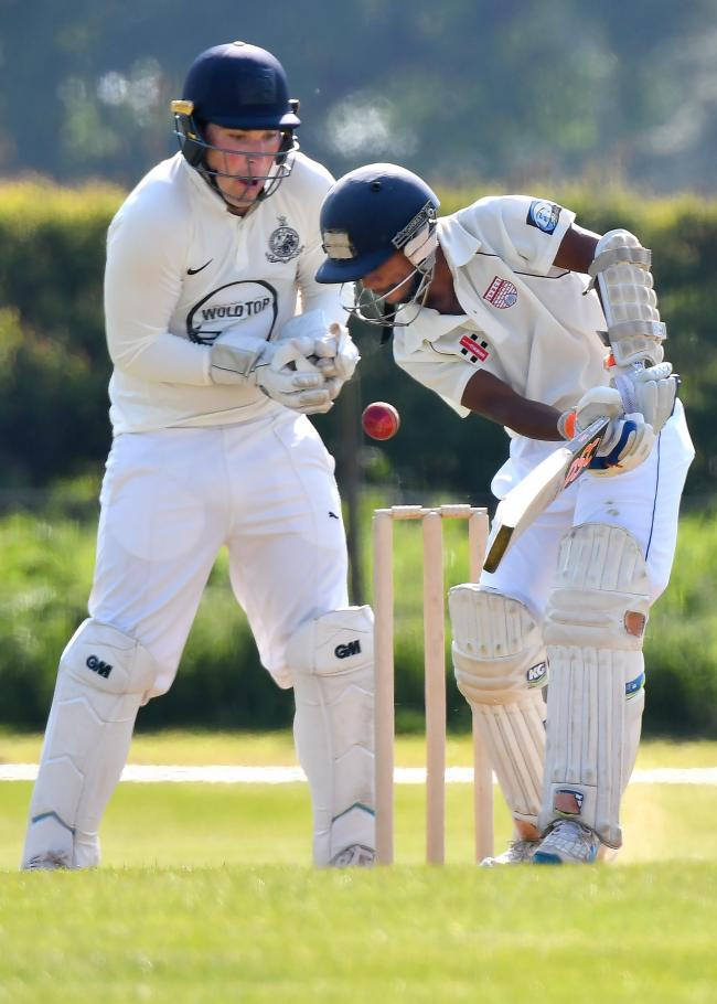 SHERIFF LAY DOWN THE LAW: Dulash Udayanga's 3-22 helped Sheriff Hutton Bridge extend their lead at the top of the Pilmoor Evening League following a dramatic victory over Helperby