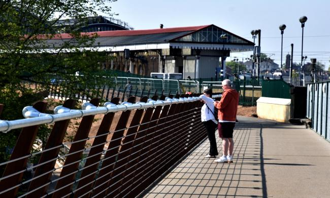 York's new-look Scarborough Bridge. Does the barrier at the railway station make it a waste of money?                                                                                                                                            Picture: