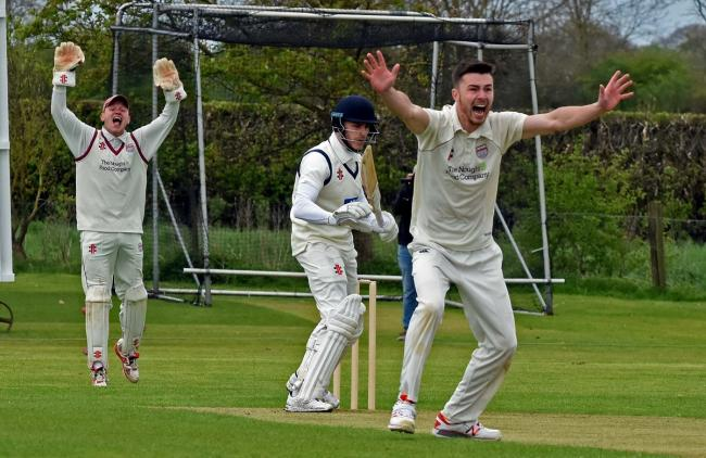 TABLE-TOPPERS: Freddie Collins - here bowling - who had a great knock for league leaders Bubwith, for whom his 81 not out was key in victory over Woodhouse Grange. Picture: Nigel Holland