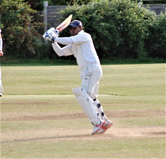 Faz Ansar in action for Askham Bryan against Melbourne in the HPH York Vale League