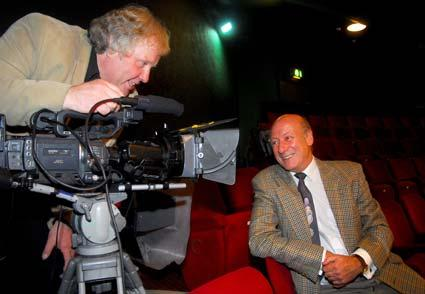 Panto legend Berwick Kaler is filmed by Christopher David, of York-based Flash Frame Productions, for a video being made as part of The Press York Means Business campaign.