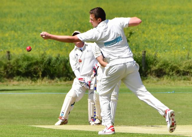 ON THE HUNT: York's Chris Hunter took three wickets in his team's Foss Evening League division two triumph against Bishop Wilton. His haul was matched by team-mate Matthew Scurry