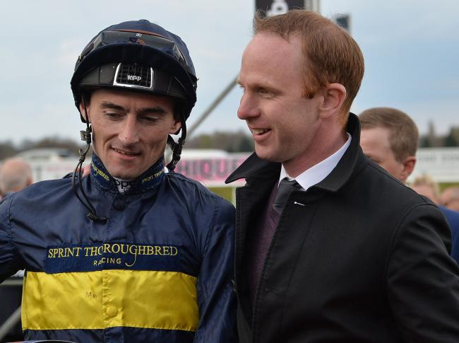 Jockey Danny Tudhope and trainer David O'Meara. Picture: Anna Gowthorpe/PA Wire